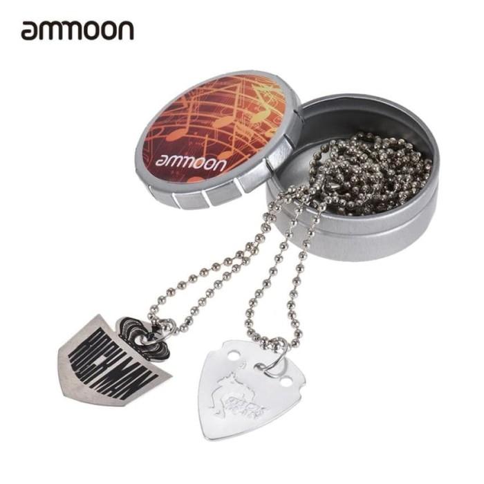harga Guitar pick necklace pendant stainless steel dengan 60 cm/23.6i Tokopedia.com