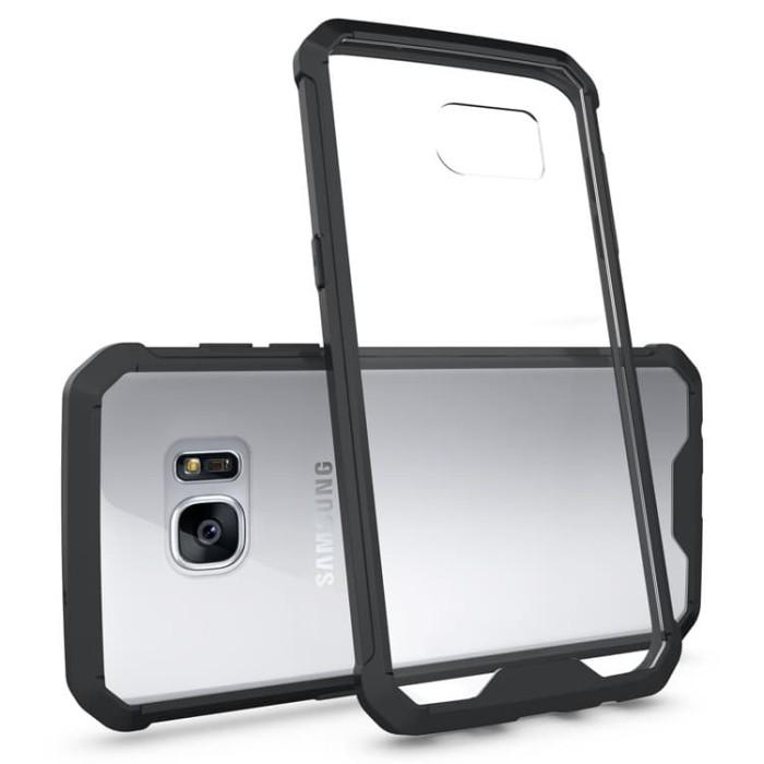 harga Samsung galaxy s7 edge clear back + panel tpu air cushion hybrid case Tokopedia.com