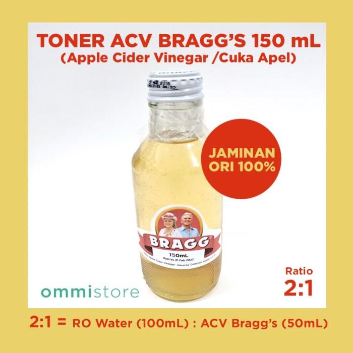 harga 150 ml bragg apple cider vinegar acv toner cuka apel braggs share 2:1 Tokopedia.com