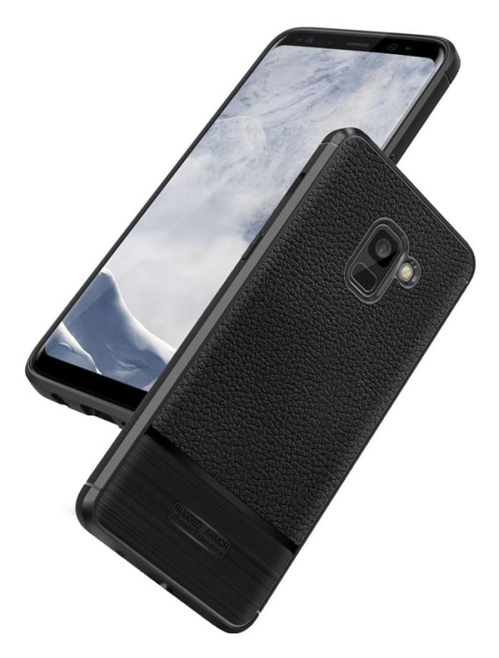 harga Hardcase cover rugged armor leather samsung galaxy a8 a8 plus 2018 Tokopedia.com