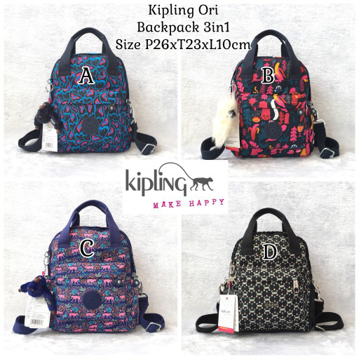Backpack kipling ori 3in1  tas kipling original 076319708a