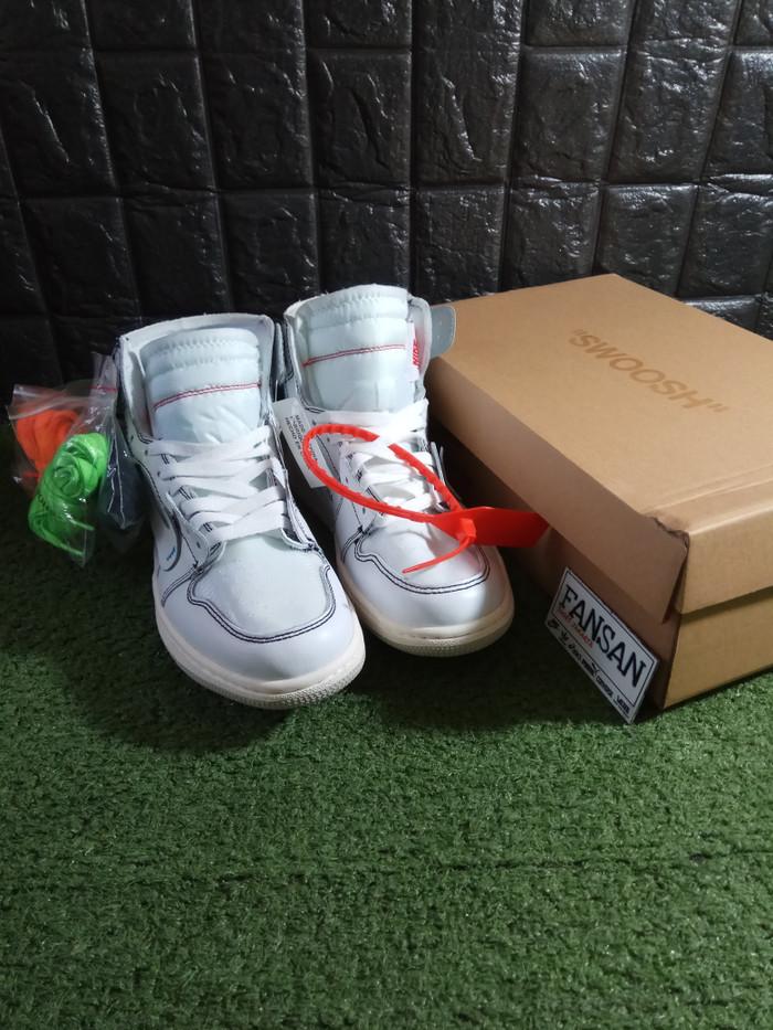 huge selection of 547f5 6dafe Jual Sepatu NIKE Jordan Retro 1 X Off White UA Quality - Putih, 45 -  Jakarta Selatan - FanSan_Shoes | Tokopedia