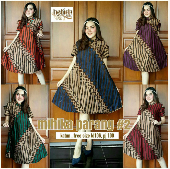 harga Dress etnik batik model sabrina motif parang murah ukuran allsize Tokopedia.com