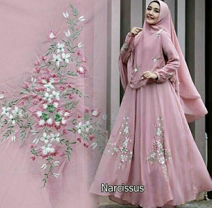 Jual Gamis Cewe Gamis Wanita Fashion Muslim Narcisus Syar I Gamis
