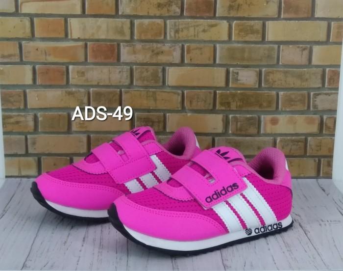 harga Sepatu anak murah pink garis putih ads-49 Tokopedia.com
