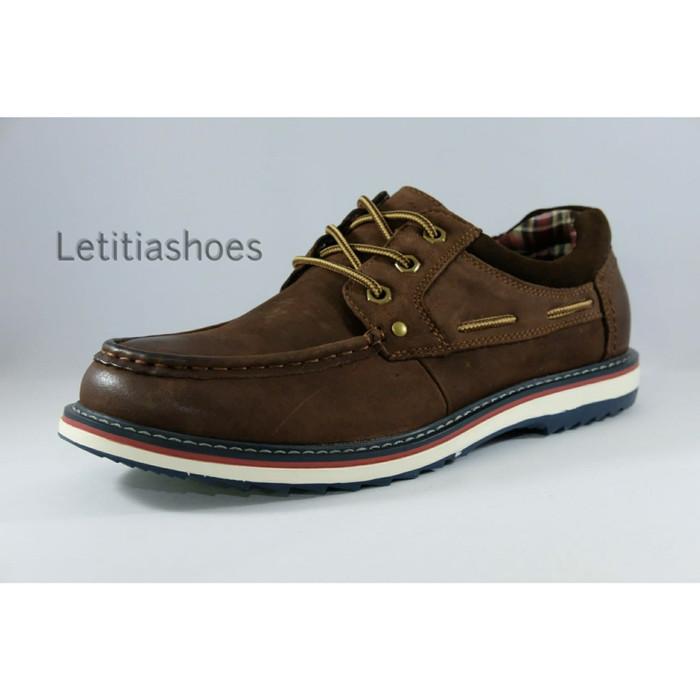 Sepatu Pria Kulit Jim Joker Original FIRE 1CA Casual Shoes - Cokelat Muda 73460101f7