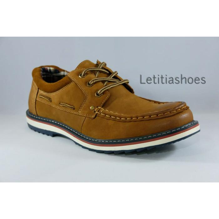 Sepatu Pria kulit Jim Joker Original FIRE 1CA Casual Shoes - Cokelat Tua de82be4351