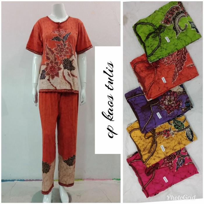 harga Setelan celana panjang kaos wanita batik tulis baju santai perumahan Tokopedia.com