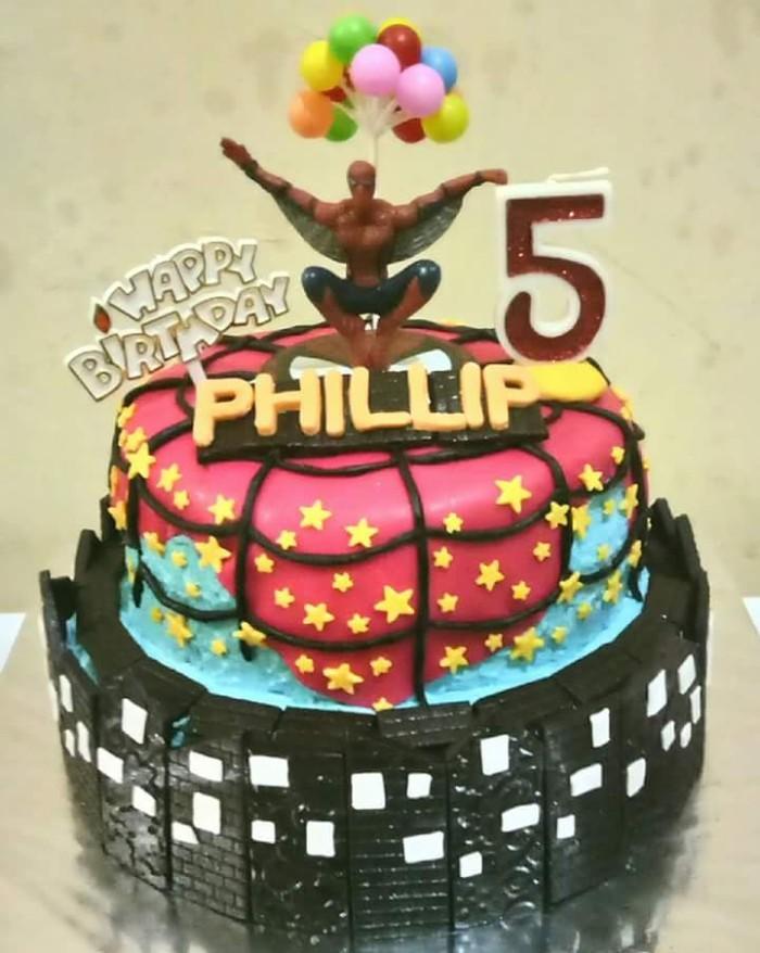 Jual Kue Ulang Tahun Spiderman Birthday Cake Medan Kota Medan Warung Sawarga Tokopedia