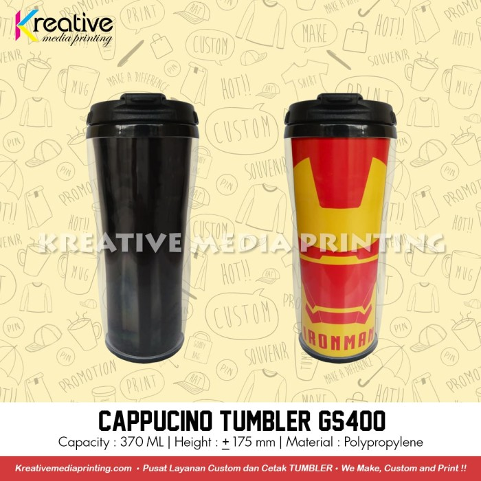 harga Cetak tumbler gs400 insert paper technoplast Tokopedia.com