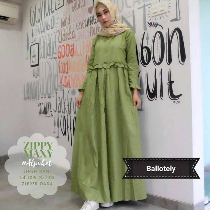 Jual Zippy Maxy Dress Gamis Modern Pakaian Wanita Hijab Model