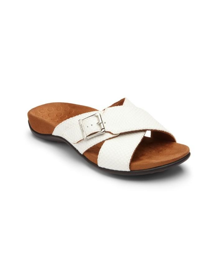 vionic dorrie white snake sandal wanita - putih 38