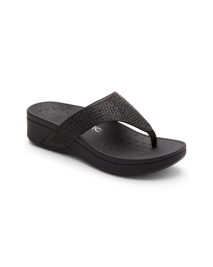 vionic naples black sandal wanita - hitam 39