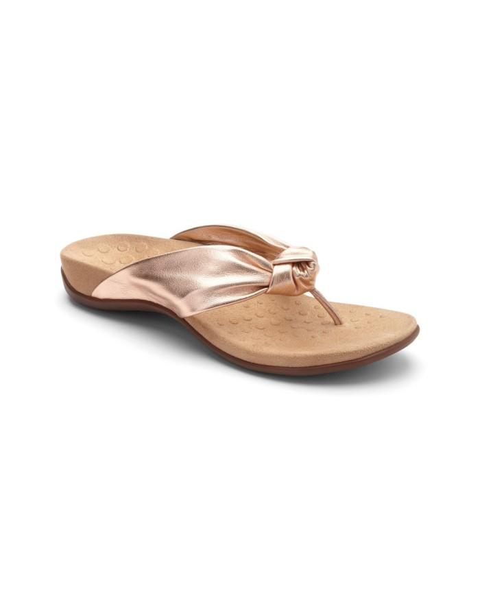 vionic pippa rose gold sandal wanita - emas 38
