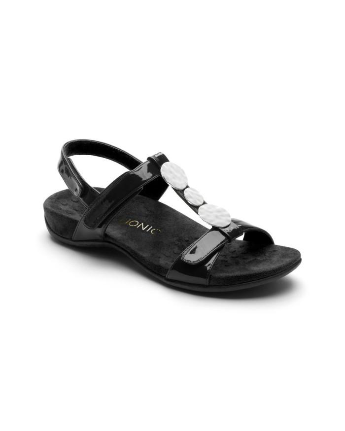 vionic farra black sandal wanita - hitam 41