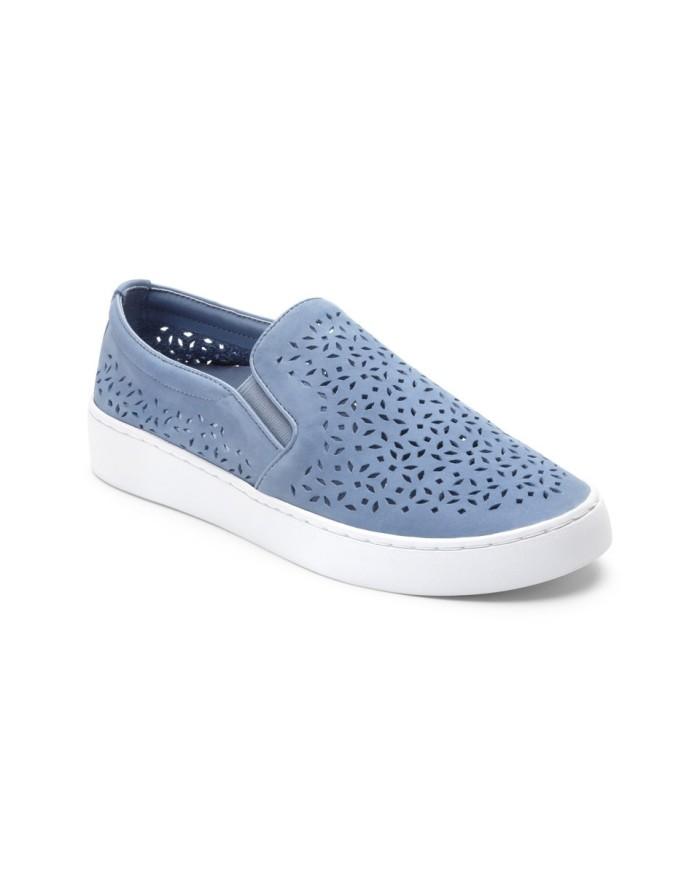 vionic midi perf light blue sepatu olahraga wanita - biru muda 38