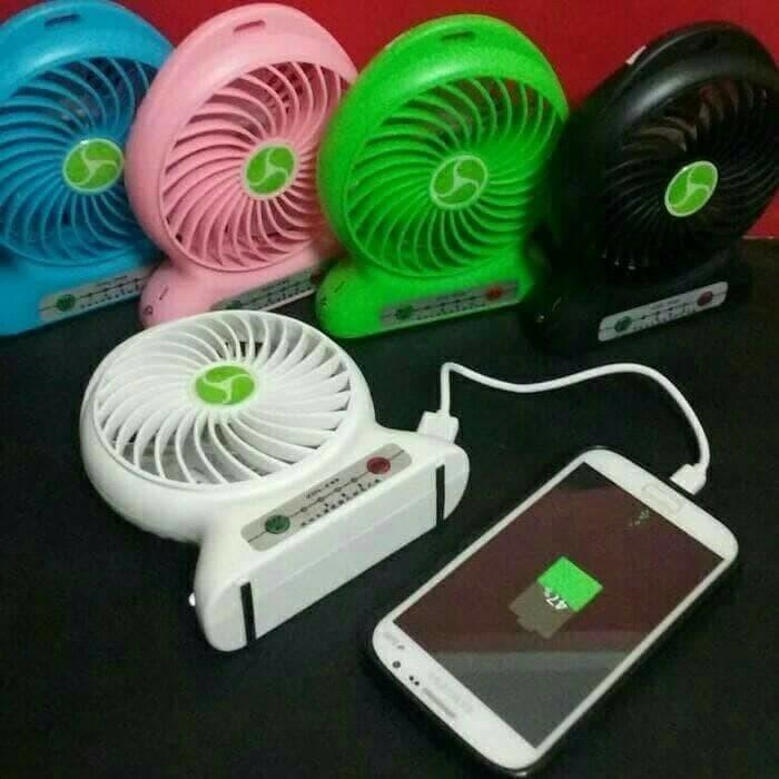 harga Powerbank kipas / kipas angin mini portable / mini fan usb portable Tokopedia.com