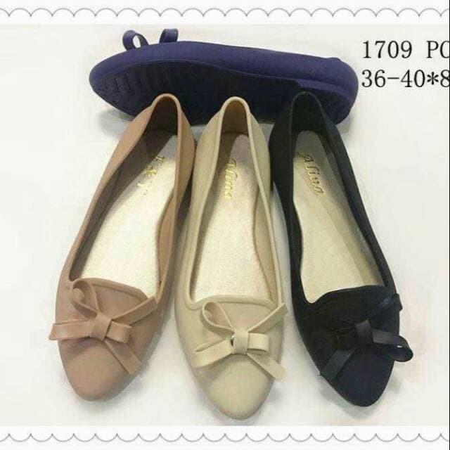 sendal wanita Jellyshoes 1705_pu / Flat Shoes / sepatu wanita