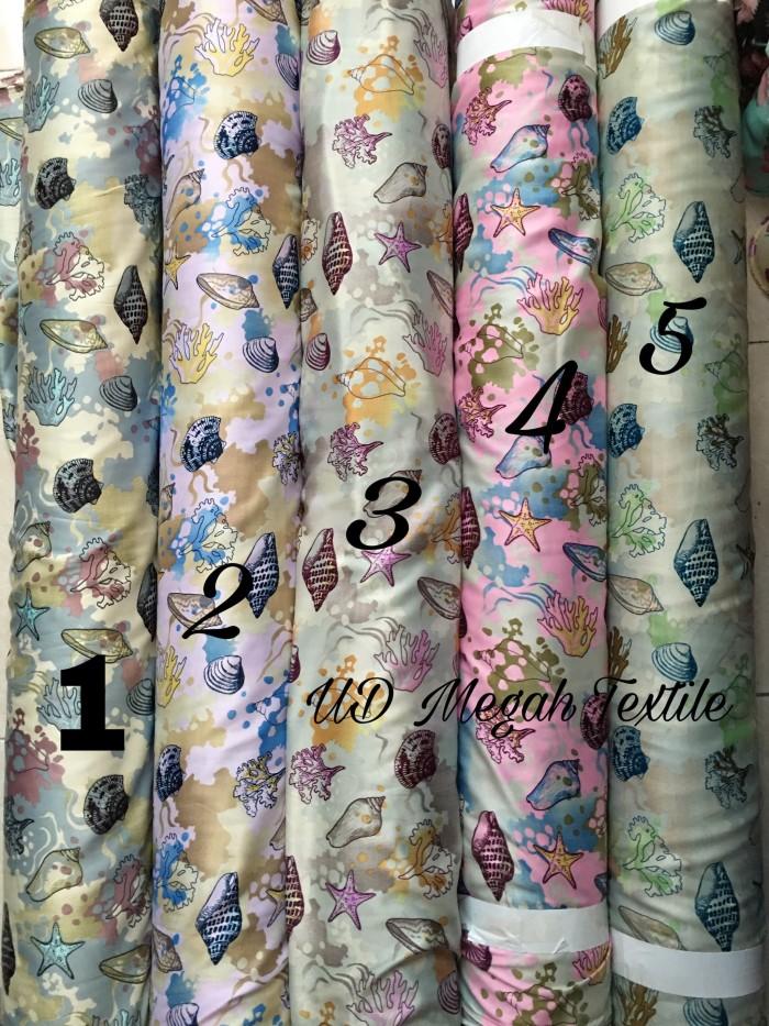 harga (mx347) kain maxmara prem silk motif kerang laut (lb115) halus,glowing Tokopedia.com
