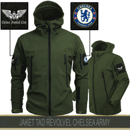 Jaket tactical tad revolver chelsea black - army - grey