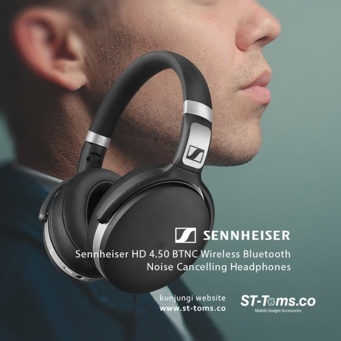 bd2cd62e817 Sennheiser HD 4.50 BTNC Wireless Bluetooth Noise Cancelling Headphones