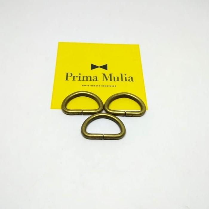 Grosir Dan Eceran Ring D 2.0 cm Tebal 3.0 mm Gold