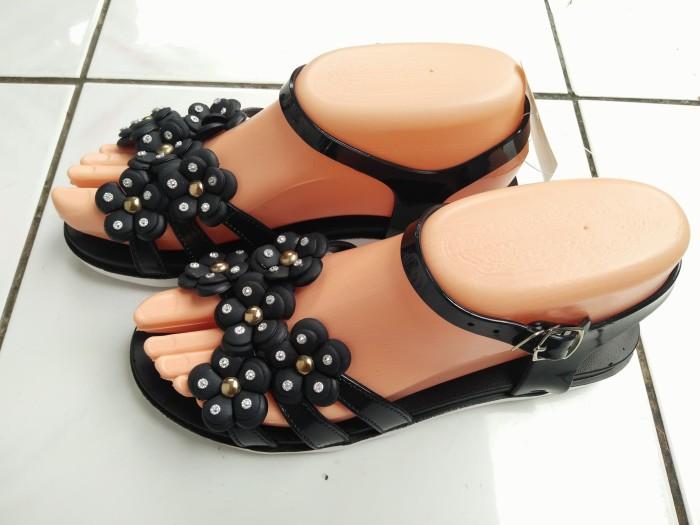 sandal flat wanita karet jelly
