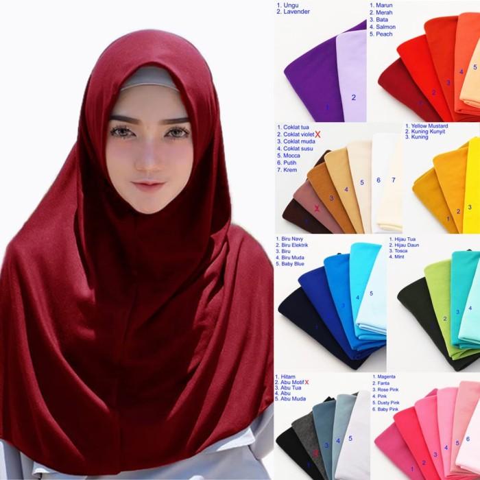 harga Jilbab instan najwa hijab instan polos kaos katun tc kerudung khimar Tokopedia.com