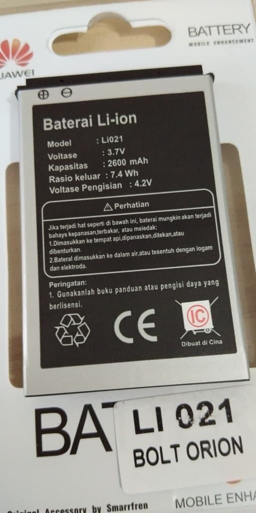 Baterai Batre Batere Battery Modem Bolt Bold Orion Movimax Mv1 Li021