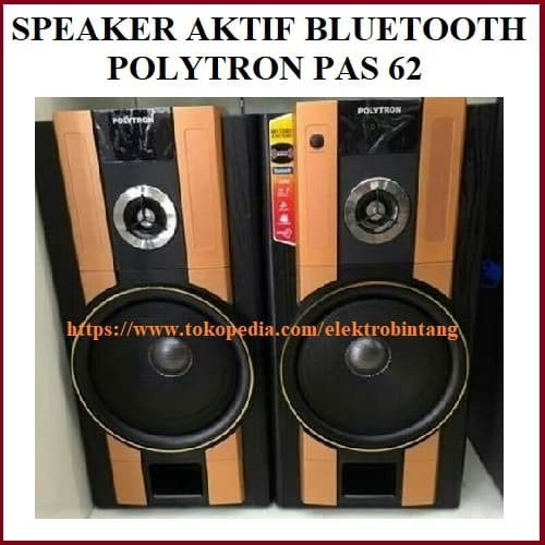 harga Speaker aktif polytron pas 62 gold with bluetooth Tokopedia.com