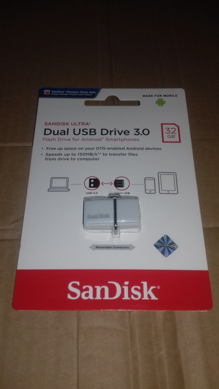Jual Sandisk Ultra Dual Drive 32 Gb Flashdisk Otg Usb 30 Original 32gb Garansi 5 Tahun Hitam