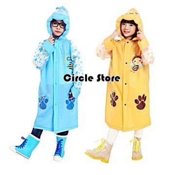 Raincoat poncho kids / jas hujan anak cute animals