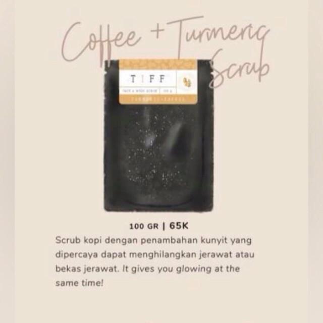 (dist resmi) coffee + turmeric lulur kopi dan kunyit tiff body