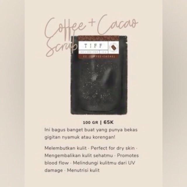 (dist resmi) coffee + cacao scrub lulur kopi coklat tiff body