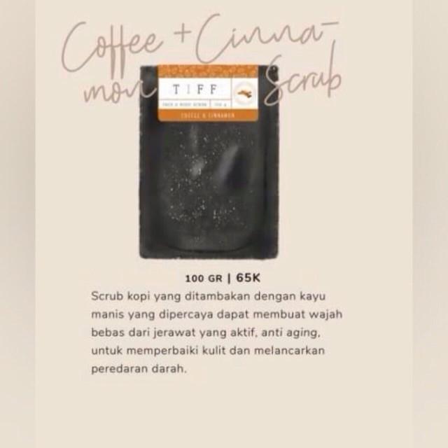 (dist resmi) coffee + cinnamon scrub lulur kopi kayu manis tiff body
