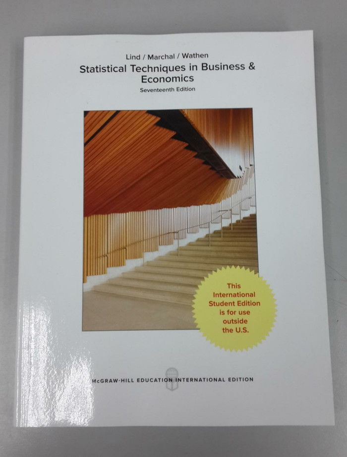 harga Statistical techniques in business and economics 17th edition by lind Tokopedia.com