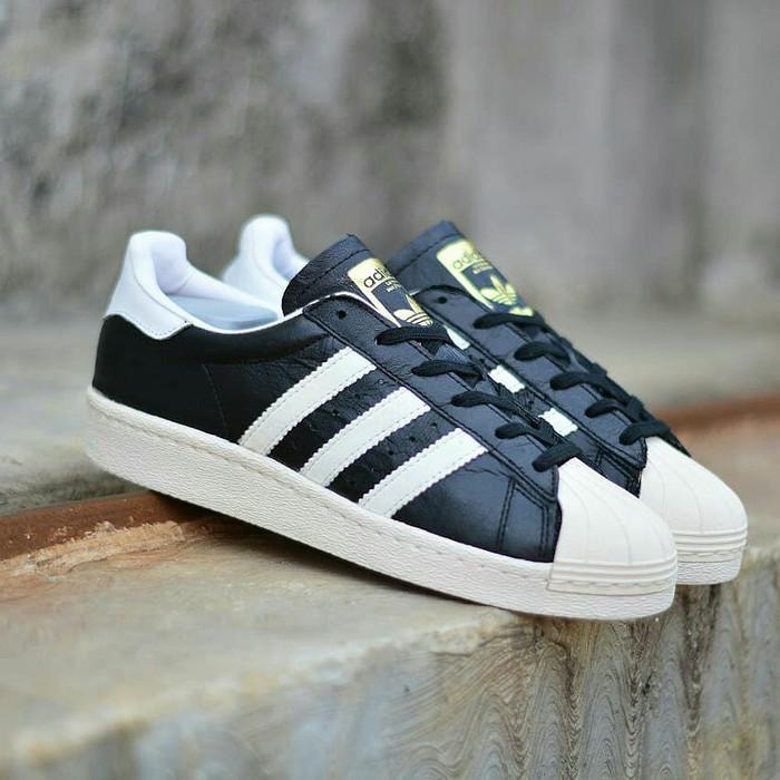 Jual Sepatu Adidas Superstar 80s Black White Original BNWB! - Toko ... 61c6fc239d