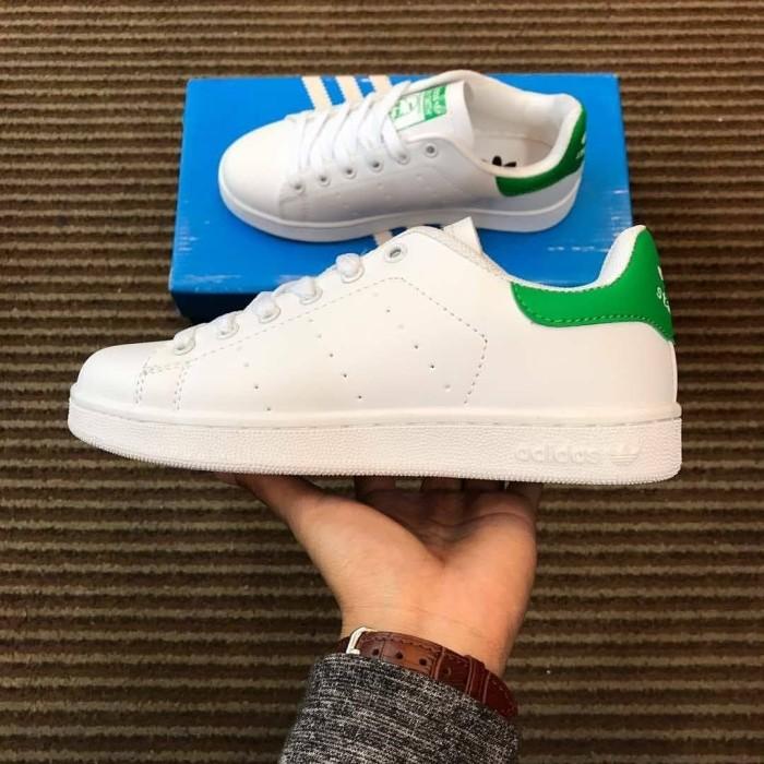 Jual Sepatu Adidas Stan Smith White Green Pria Wanita