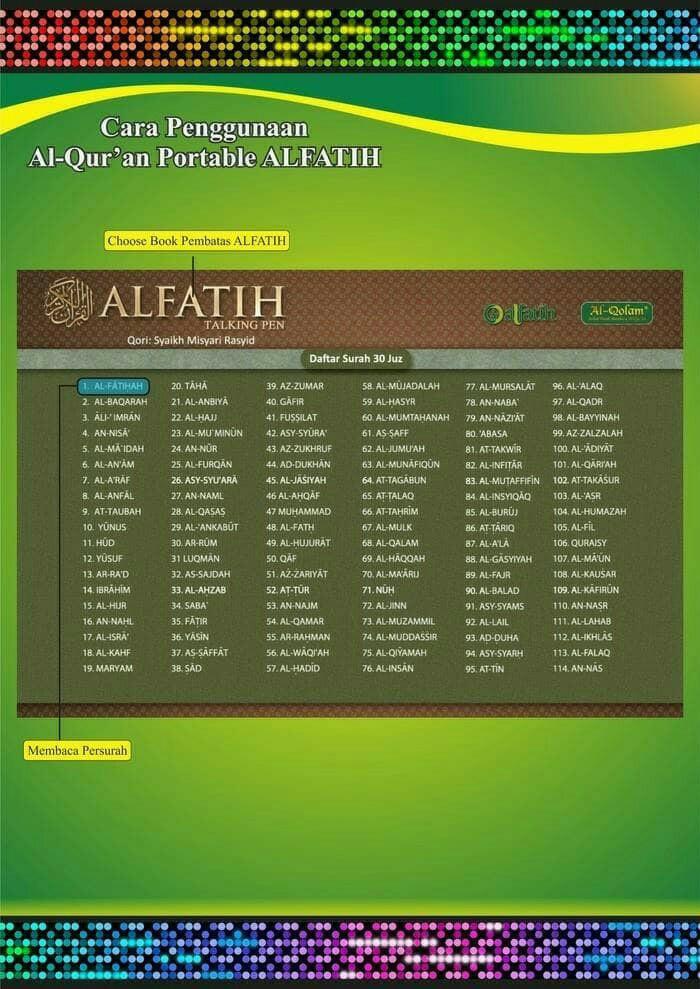Jual Alquran Al Fatih The Holy Quran Talking Pen Murah Dki Jakarta Raja Muda Agency Tokopedia