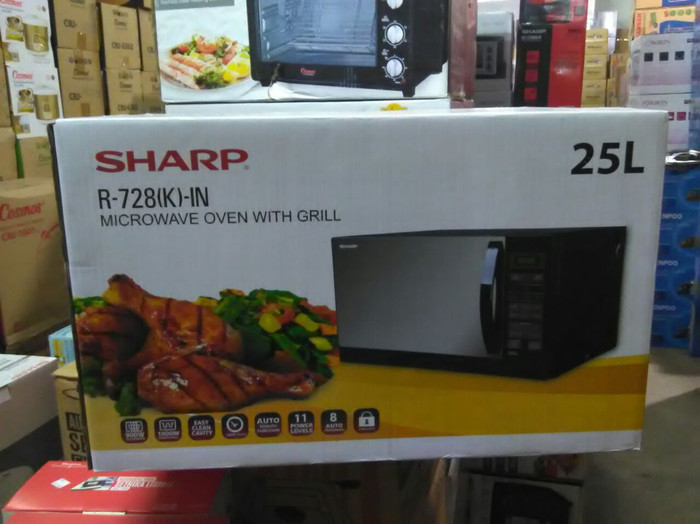 Sharp Microwave R 728 K In 25l Black