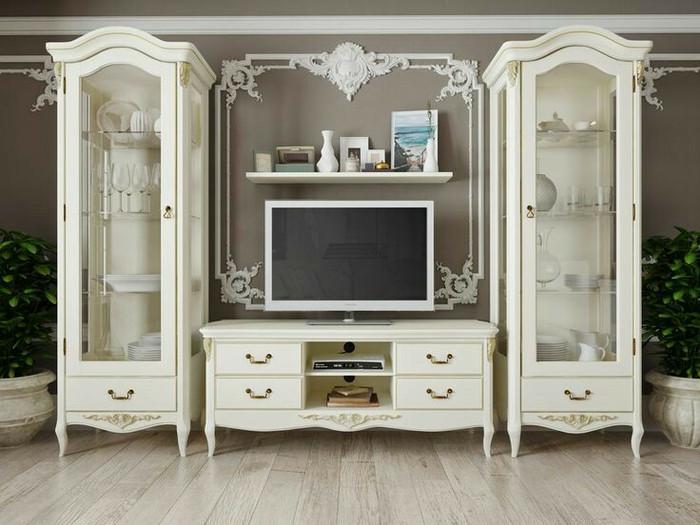 Jual Lemari Tv One Set Mahogany Wood Solid Desain Pewarnaan Duco