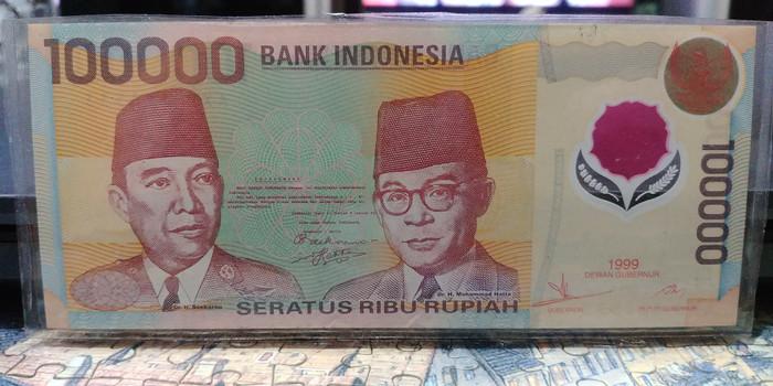 harga Uang polymer indonesia 100.000 thn 1999 Tokopedia.com