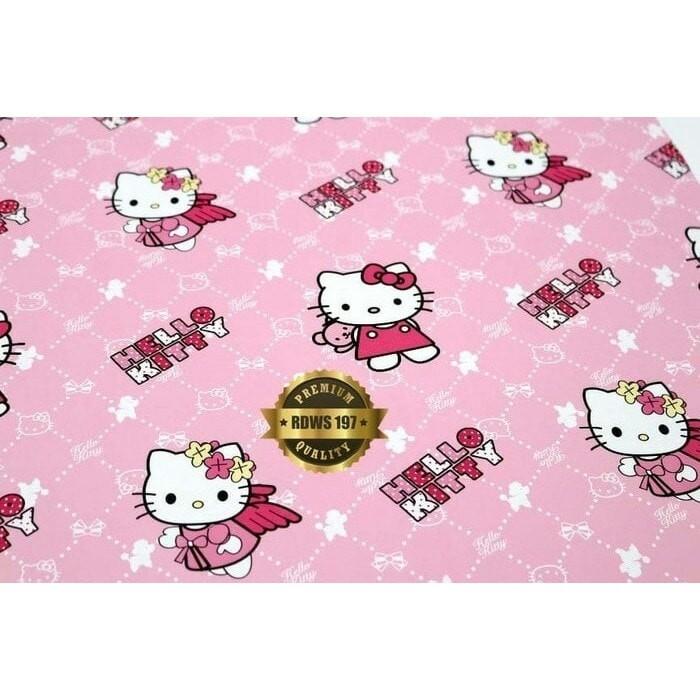 Jual Wallpaper Dinding Motif Pink Karakter Hello Kitty Kamar Anak