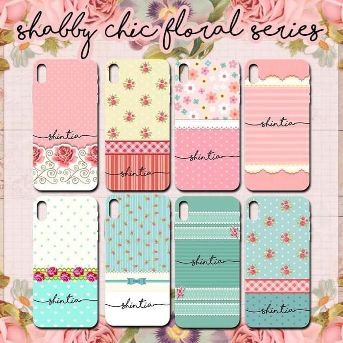 harga Custom case - softcase - cover 1 hari jadi katalog shabby chic floral Tokopedia.com