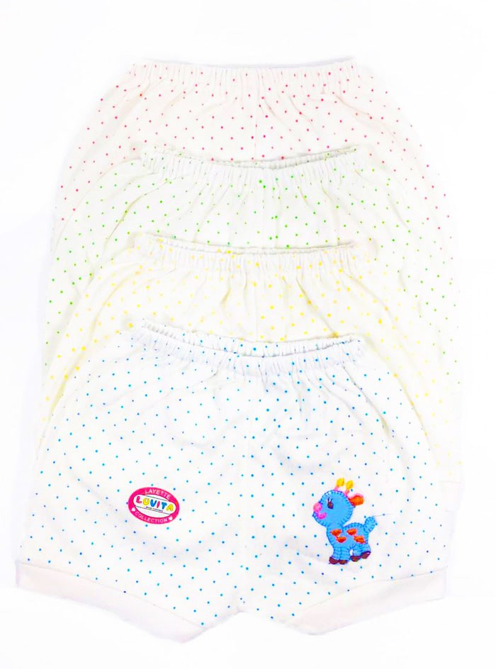 Pakaian Anak Bayi Newborn Luvita Celana Pendek Motif Kuda Poni (4Pcs)