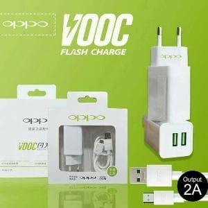 Foto Produk Charger OPPO VOOC FAST CHARGING Adaptor 2 Ampere 2 Port Usb ORI 99% dari KortingStore