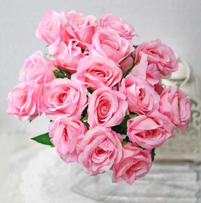 harga Bunga plastik artificial mawar rose isi 18 kuntum besar shabby chic 6 Tokopedia.com