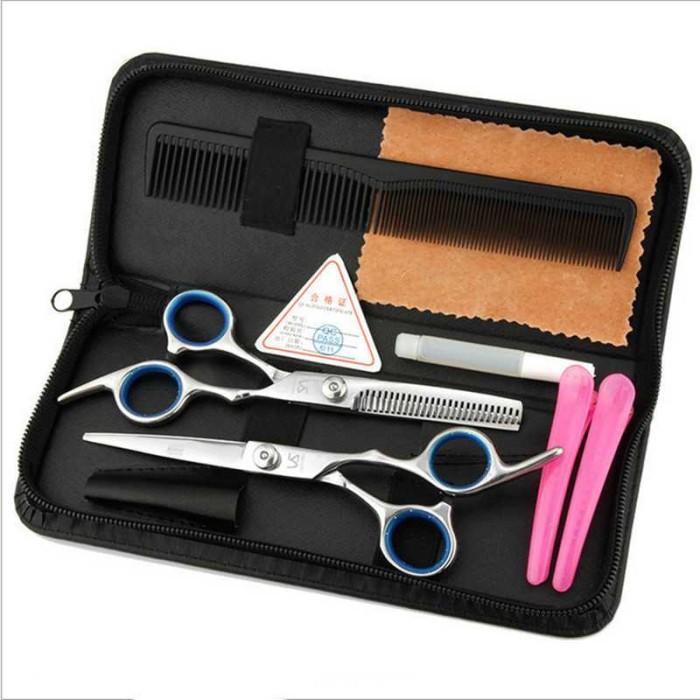 Peralatan Set Gunting Rambut Salon Profesional .