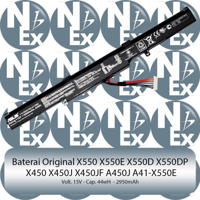 harga Baterai original laptop asus a450j  f550  x550 a41-x550e Tokopedia.com