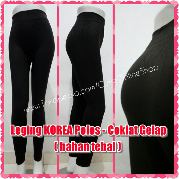 Jual Celana Legging Celana Leging Korea Polos Coklat Gelap Bahan Tebal Jakarta Barat Tuku 1000 Tokopedia
